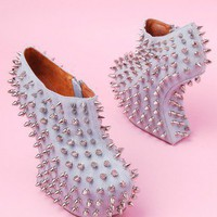 Jeffrey Campbell Shadow Stud in Denim Silver
