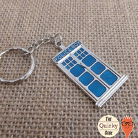Police Box Key Chain - Whovian - Accessory - Gift for him - gift for her - unisex