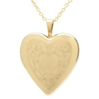 Gold Plated Heart Fancy Heart Locket Pendant Necklace