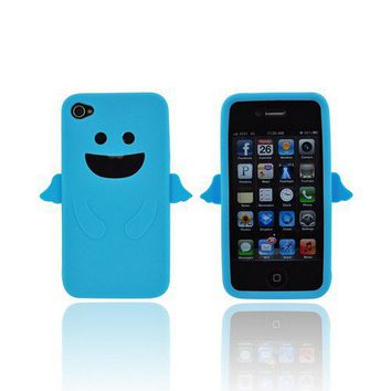 The Apple iPhone 4 Silicone Case - Blue Angel w/ Wings comes w/ Free Shipping.