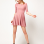 River Island Glitter Skater Dress at asos.com