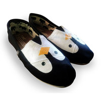 Custom Painted &quot;Penguin&quot; Toms Shoes