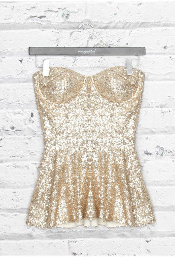 Missguided - Premium Sequin Peplum Top