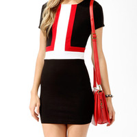 Colorblocked Panel Dress