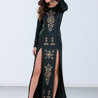 Kendall Double Slit Maxi Dress GoJane.com