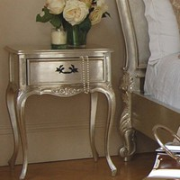 Verona Silver Leaf Bedside Table - Sweetpea & Willow London