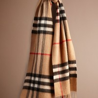 Heritage Check Cashmere Scarf   Burberry