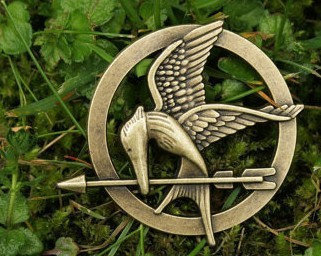 Brooch---brass The Hunger Games Inspired Mockingjay brooch with a pin at the back