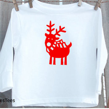 Reindeer Christmas Shirt, Kids Christmas Shirt, Toddler, Youth