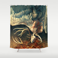 Downfall Shower Curtain by Tatchit