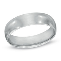 Men's 6.0mm Polished Comfort Fit Wedding Band in Sterling Silver