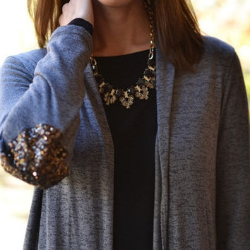 Patch It Up In Sequins Cardigan