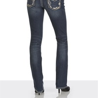 silver jeans co. ® aiko sequin pocket slim boot jeans
