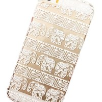 Clear Plastic Case Cover for Iphone 5 5s 5c Henna Lotus Floral Elephant Hindu Ganesh (For iPhone 5 5S)