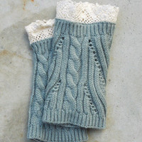 Cozy Knit Boot Cuffs in Gray [6329] - $14.00 : Vintage Inspired Clothing & Affordable Dresses, deloom | Modern. Vintage. Crafted.