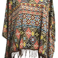 Beyond Doubt  Native Print Poncho