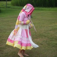 Gypsy Sweater Coat Pink and Yellow Women's Extra Full
