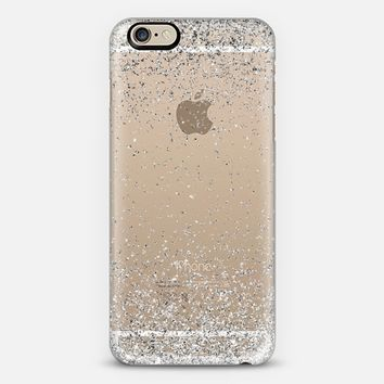 Silver Sparkly Glitter Burst iPhone 6 case by Organic Saturation | Casetify