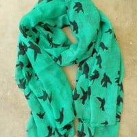 Sparrows in Flight Verte Scarf [2259] - $16.00 : Vintage Inspired Clothing &amp; Affordable Summer Dresses, deloom | Modern. Vintage. Crafted.