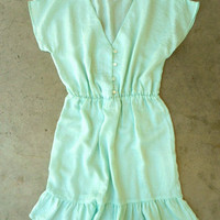 Light as Air Dress in Mint [3020] - $32.00 : Vintage Inspired Clothing & Affordable Summer Dresses, deloom | Modern. Vintage. Crafted.