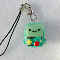 Beemo (from  Adventure Time), Charm with Cell Phone Strap