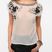 Hazel Beaded Chiffon Blouse