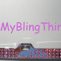 Rose Pink Crystal BLING Inset / Embedded Rhinestone License Plate Frame made with Swarovski Elements