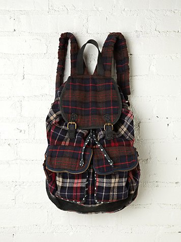Free People Portland Plaid Backpack