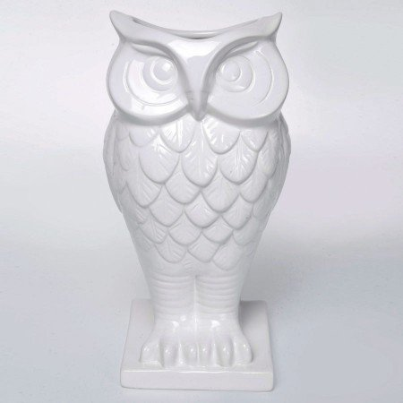 White Ceramic Owl Vase From Graham And Green Owl You Need Is