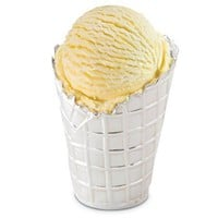Large Silver Plated Ice Cream Cone Tubs - Tableware - Kitchen