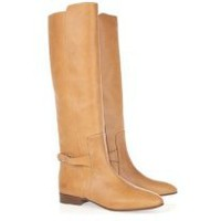Chloé | Tucson leather and metal boots | NET-A-PORTER.COM