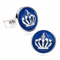 Enamel Royal Crown Cufflinks-CLI-RR-324