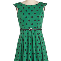 A Grand Weekday Out Dress in Dots | Mod Retro Vintage Dresses | ModCloth.com