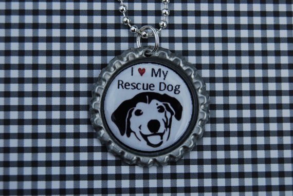 Donation to Madcap Charity Set of 3 Shelter Shout Out Bottlecap Pendants with Chain Necklace
