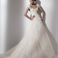 A-Line Sweetheart Sleeveless Tulle Embroidery Wedding Dress Caelum [TKWD0616] - US$279.99 : Comdress.com