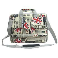 Amazon.com: 14 inch Union Jack Flag Laptop Carry Case / Shoulder Messenger Bag / Briefcase for Macbook, Acer, Dell, HP, Sony Notebook: Electronics