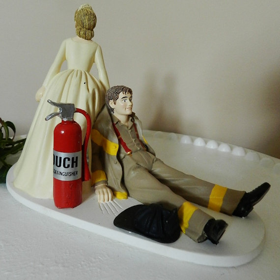 Firefighter Wedding Cake Toppers Canada