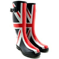 Amazon.com: NEW LADIES UNION JACK FESTIVAL WELLIES WELLINGTONS BOOTS, SIZE US 5-10: Shoes
