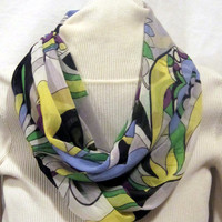 Infinity scarf, circle scarf, cowl scarf  soft spring colors