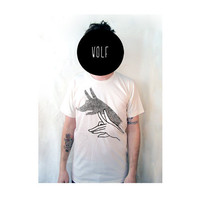 Wolf shirt by kinshippress on Etsy