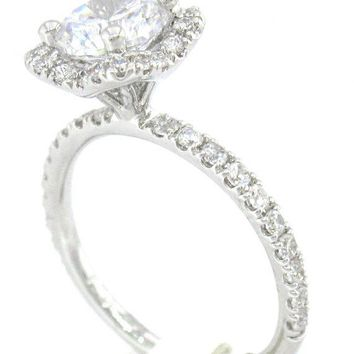 ROUND CUT DIAMOND ENGAGEMENT RING ART DECO 160CTW by KNRINC