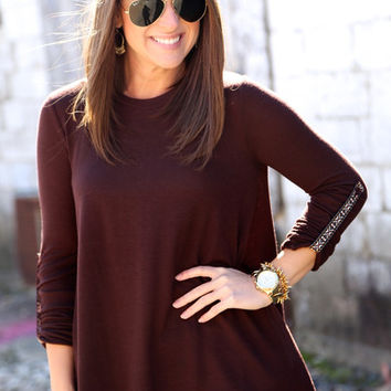 Timber Woods Tunic {Brown}