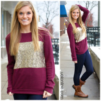 Make It Known Sweater - BURGUNDY /