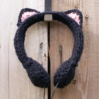 Black Cat Crocheted Headphones - Whimsical & Unique Gift Ideas for the Coolest Gift Givers