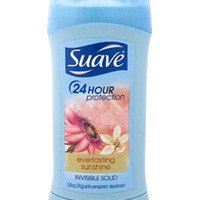 24 Hour Protection Everlasting Sunshine Invisible Solid AntiPerspirant Deodorant by Suave for Women - 2.6 oz Deodorant Stick [W-BB-2495] - $2.77 : Beautante