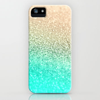 GOLD AQUA iPhone & iPod Case by Monika Strigel