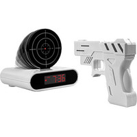 Walmart: Gun and Target Recordable Alarm Clock, White