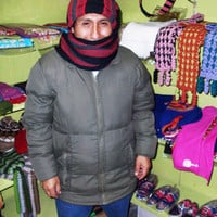 Peruvian Design Alpaca Wool Scarf-Hat. Super-Soft, Fashionable and Warm.