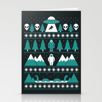 Paranormal Xmas Stationery Cards by Teo Zirinis