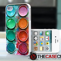 WaterColor palette set iPhone 4s and iPhone 4 Case Cover paintbox